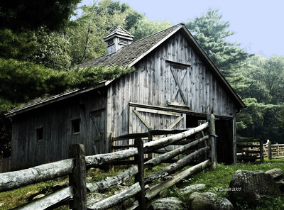 Old, Farm, Barn, Stamford Museum, Building, Stamford CT.