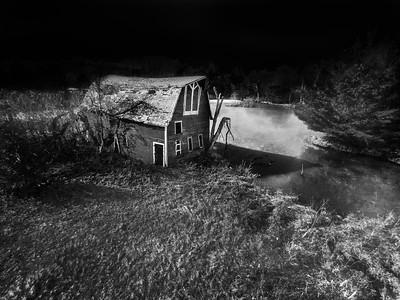 Sinking B&W Barn