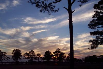 Brush strokes across the sky