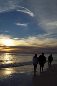 Ken, Melissa, and Rich having a walk on Crooked Island Beach