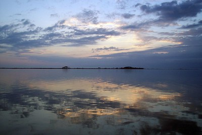 The painted sky reflected in St. Andrews Bay