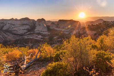 Sunset Starburst over Phantom Valley