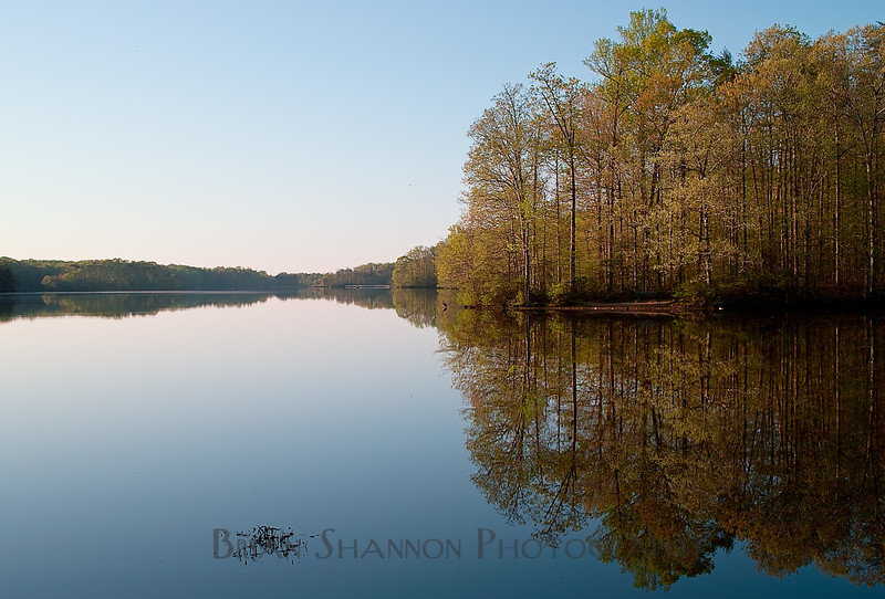 Burke Lake sunrise by Brian Shannon