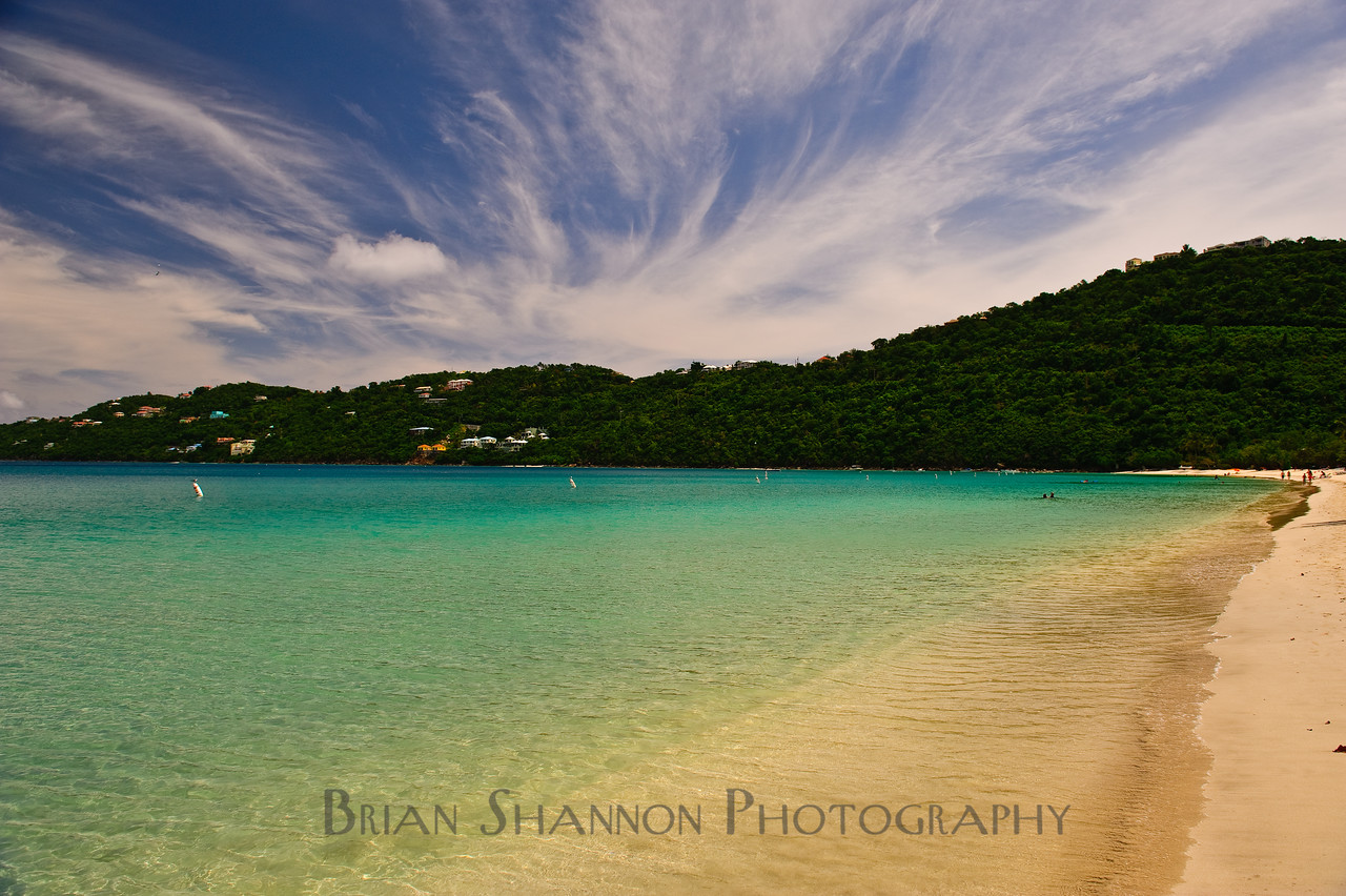 Magens Bay beach clouds by Brian Shannon