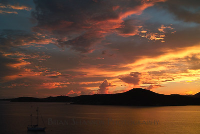 Hassel Island sunset by Brian Shannon
