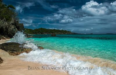 Trunk bay beach, St. John, USVI by Brian Shannon