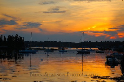 Fiery sunset by Brian Shannon