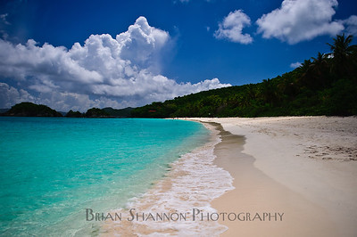 Trunk Bay morning by Brian Shannon