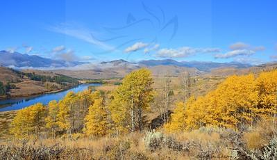 Fall with Pearrygin Lake.