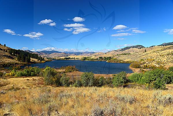 Pearrygin lake full view. Fall