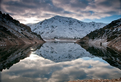Reflections on a Idaho Morning.   Arrowrock Reservoir,  Id.