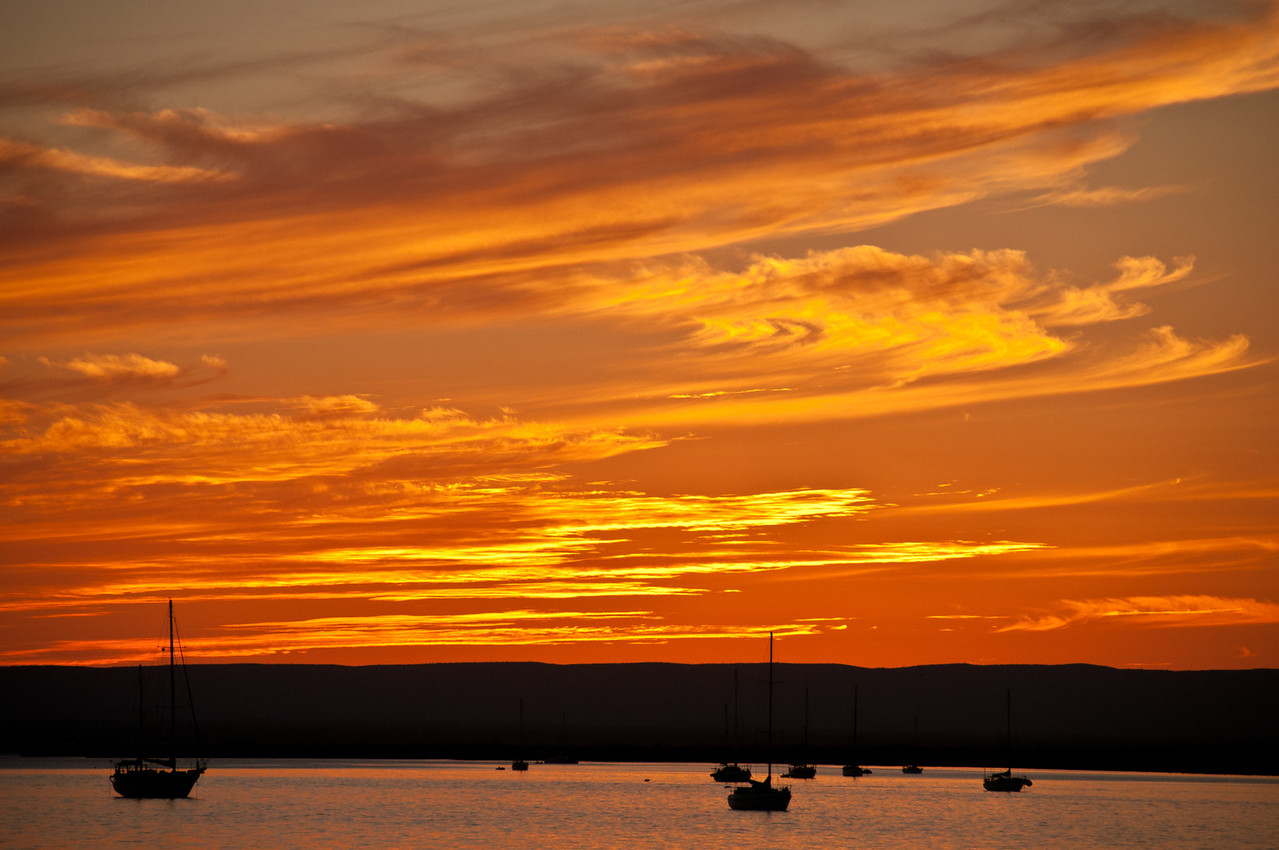 Sunset in La Paz.  Baja, Mexico