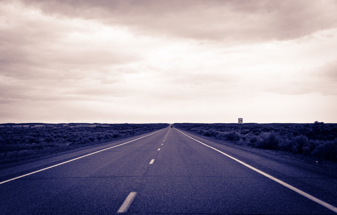 Route 26 to Infinity.   Shoshone, Id.