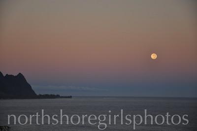 Moonset over Bali Hai Kauai