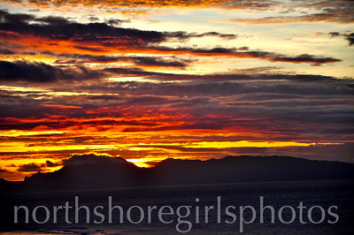 Sunset Over Raiatea