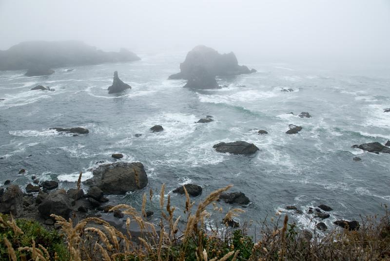 Fog along the coast of Northern California on route CA 1. <br /> D200_2007-07-22DSC_2872-CoastFogCA1-2.jpg