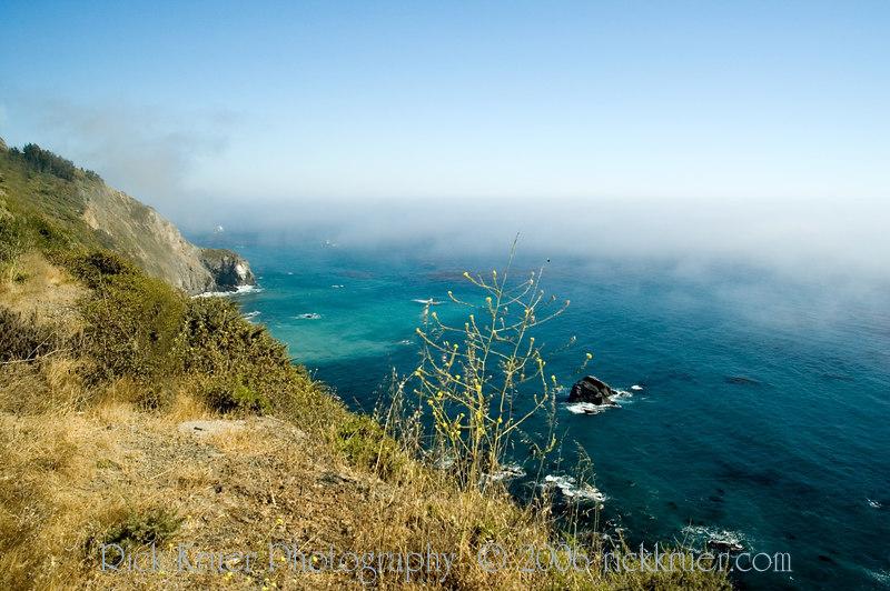 The ocean was a beautiful aqua blue, view from the road.<br /> ND70_2006-07-08DSC_4178-CoastRoadViewOceanBlue-2.JPG