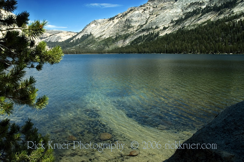 Beautiful Tenaya Lake in Yosemite National Park.<br /> <br /> July 2006<br /> <br /> Copyright © 2006 Rick Kruer rickkruer.com (rick@kruer.name)<br /> <br /> ND70_2006-07-29DSC_6348-6371-Collage-TenayaLakeScenic-nice-5.psd