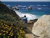 Eileen captures wildflowers, great scenery and Rick taking photos along the coast at Big Sur, CA near Rocky Creek Bridge.<br /> P7252021-RickPhotosRockyCreekBridge-2.jpg