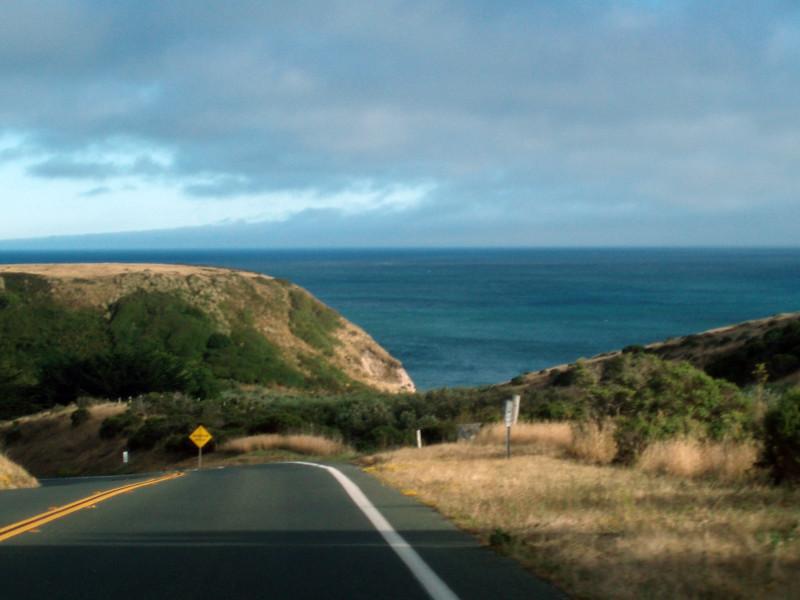 Eileen's photo of the treacherous road as we wind our way down the coast of Northern California on CA 1.<br /> P7221912-RoadCA1CoastFog-2 copy.jpg