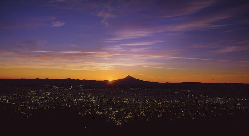 Sunrise over Portland Oregon, October 2013