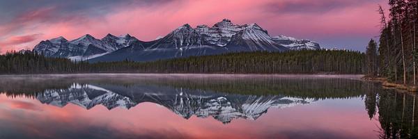 """Pink Dawn"" - Canadian Rockies"