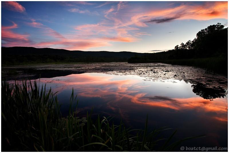 Summer sunset near Egremont, Massachusetts.