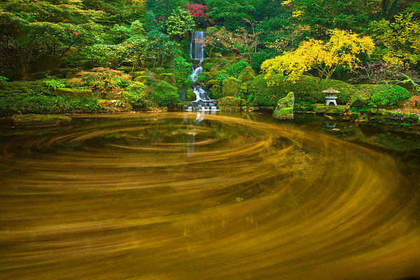 Circles Of Color At The Gardens - Portland Japanese Garden, Oregon