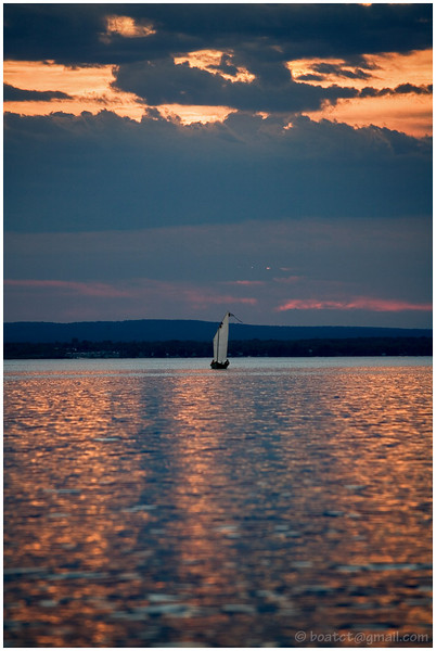Lake Champlain, Vermont. New York state is in the background.