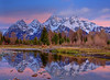 Crystal Reflections Of Grand Tetons - Schwabacher Landing, Grand Teton National Park, Wyoming
