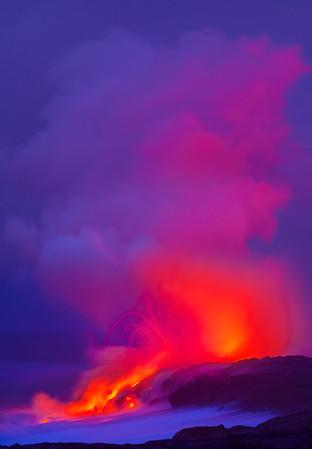 Electric Reds - Hawaii Volcano National Park, The Big Island, Hawaii
