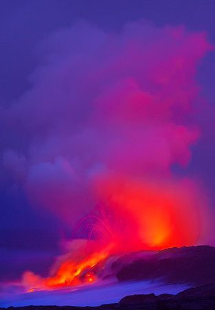Electric Reds - Hawaii Volcano National Park, The Big Island, Hawaii