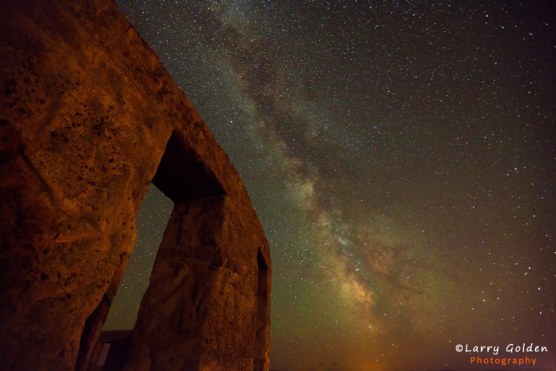 An American Stonehenge in Maryhill, Washington in Summer.