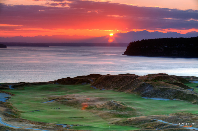 Chambers Bay Golf Course in University Place Washington. Home of the 2015 US PGA Open.