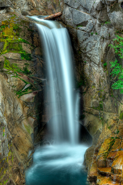 Christie Falls, Mt Rainier National Park, Washington in HDR
