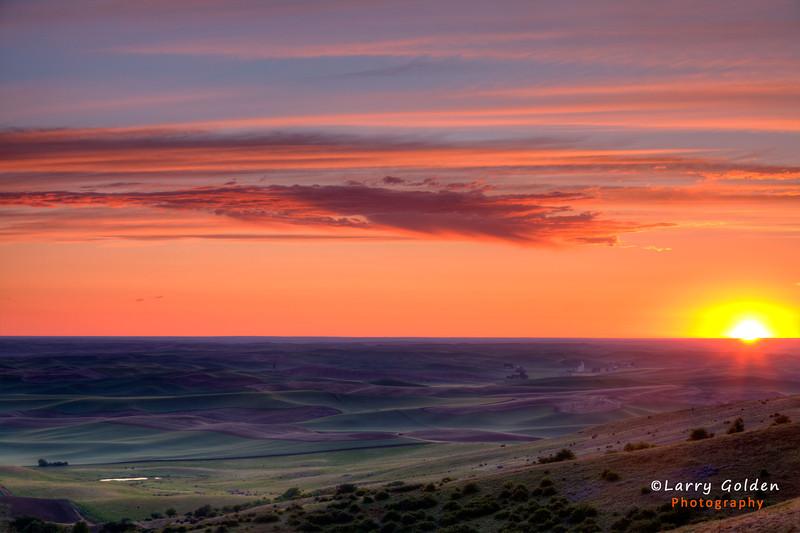 Palouse at sunset.
