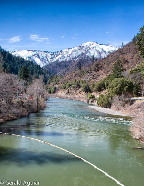 This is a photo taken on the Belden Bridge while following the western flow of the Feather River towards Oroville Dam.