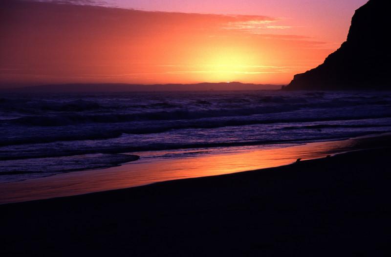 Sunset on Boulder Beach, Otago Peninsula