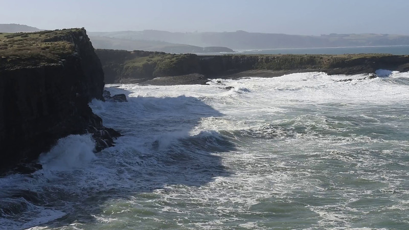 Video - heavy seas on Tautuku Peninsula
