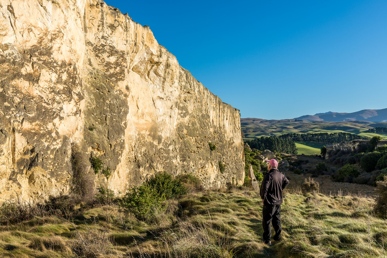 The limestone cliffs of Earthquakes, North Otago