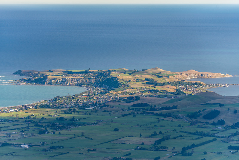 View of the Kaikoura Peninsula from the slopes of Mount Fyffe.