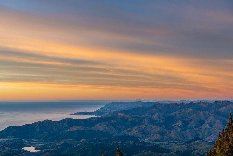 View from Mt Fyffe at sunrise
