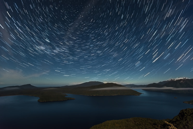 Star Trails over Lake Hauroko