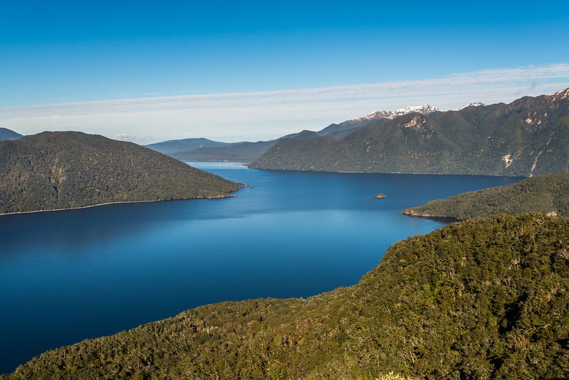 Lake Hauroko panorama from Oblong Hill Lookout