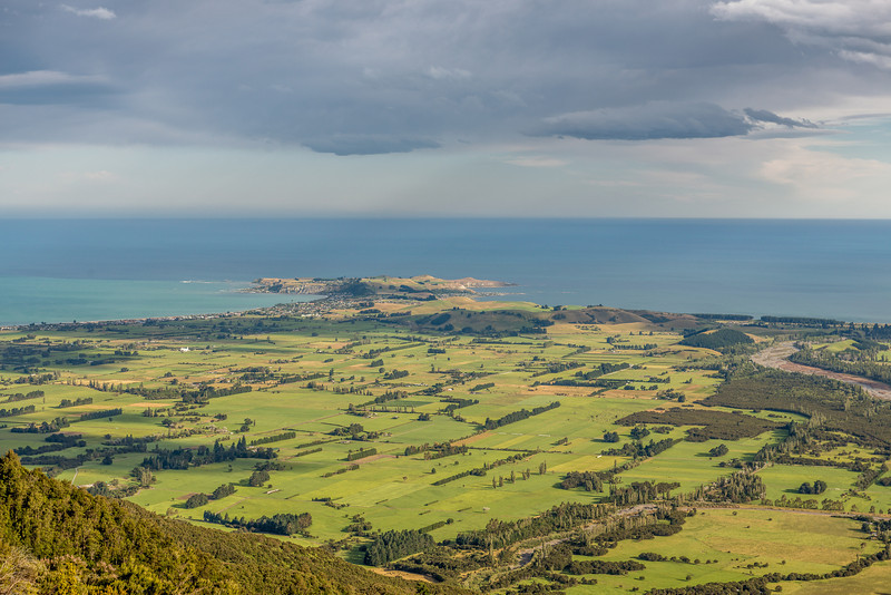 The Kaikoura Peninsula from the slopes of Mount Fyffe