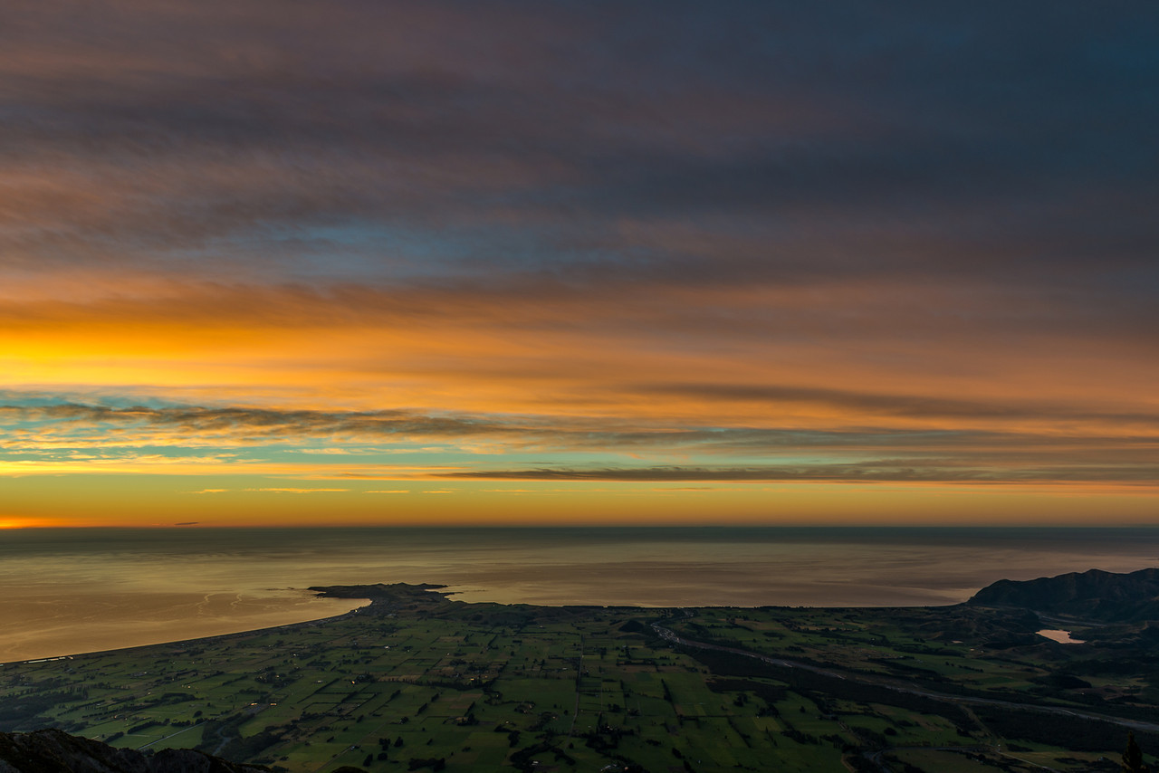 View of the Kaikoura Peninsula at dawn - 2