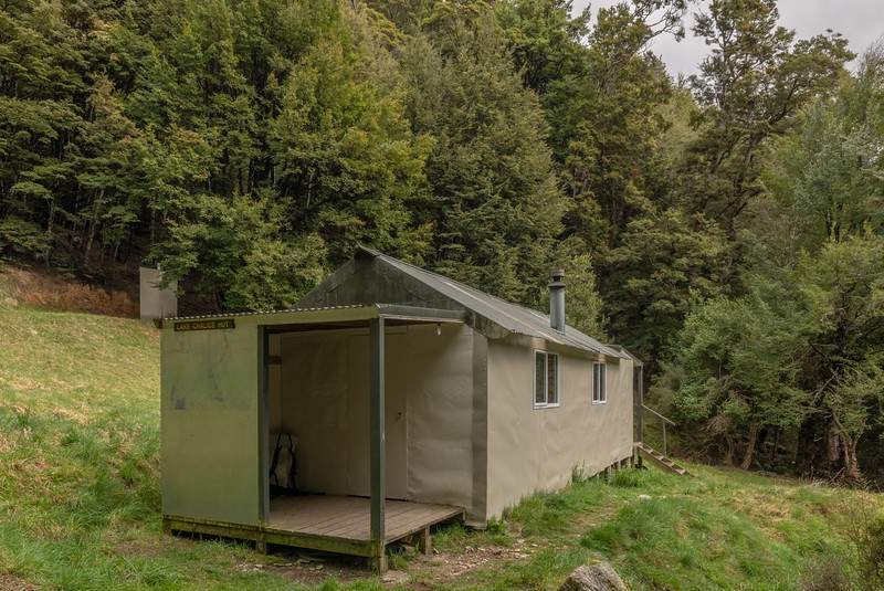 Lake Chalice Hut, Mount Richmond Forest Park.