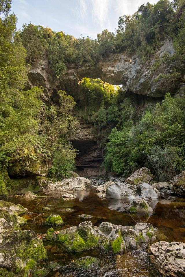 The Oparara River below the Oparara Arch. Oparara Basin, Westland.