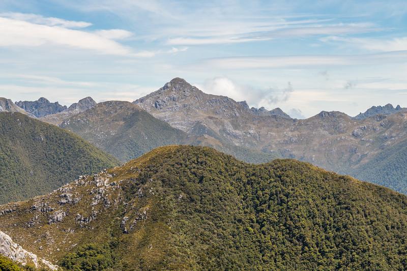Mount Kelvin, Paparoa Range, from Buckland Peaks.