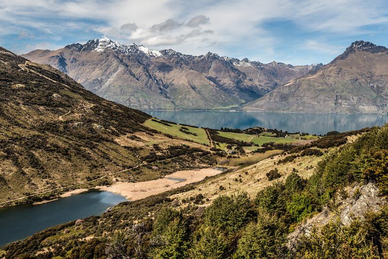 Lake Dispute, Lake Wakatipu, Cecil Peak and Walter Peak